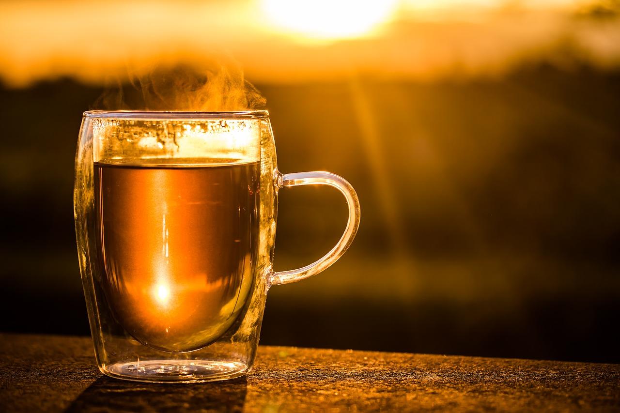 Relaxing cup of tea